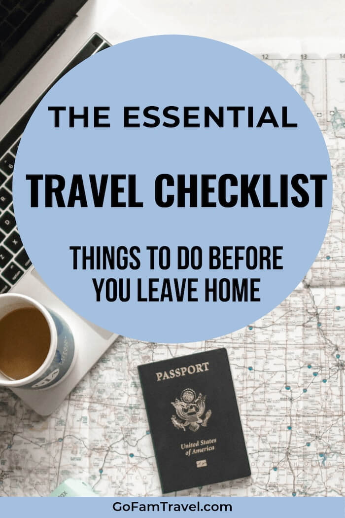 International Travel Checklist: 33 Essential Things You Must
